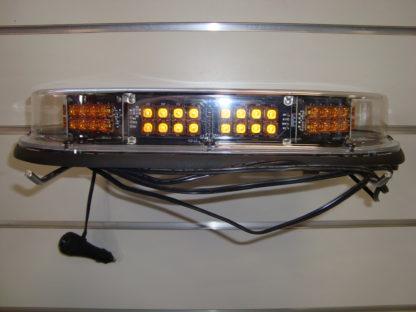 LED CLEAR LENS AMBER STROBE LIGHT - MAGNETIC MOUNT Image 1