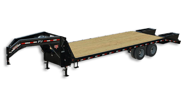 PJ Flatdeck Gooseneck Trailer - Distributed by Toppers & Trailers Plus